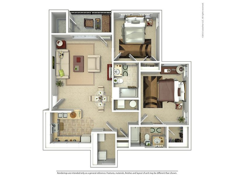 Riverwalk Apartments Floor Plan Two Bedroom Two Bath