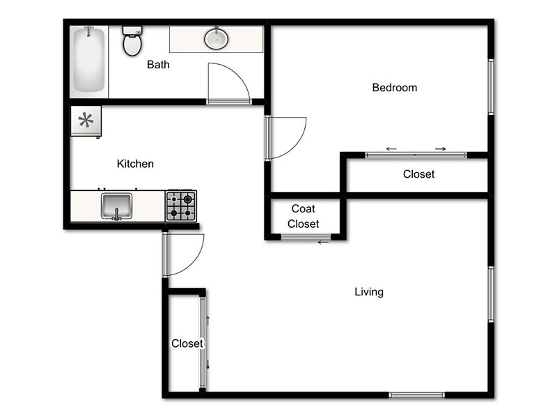 Awesome 1 Bedroom 1 Bathroom Apartment Priced At 860 600 Sq Ft Interior Design Ideas Pimpapslepicentreinfo