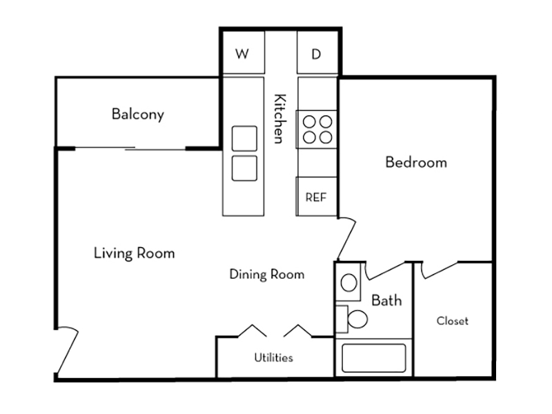 1 Bedroom 1 Bath apartment available today at Elmwood in Salt Lake City