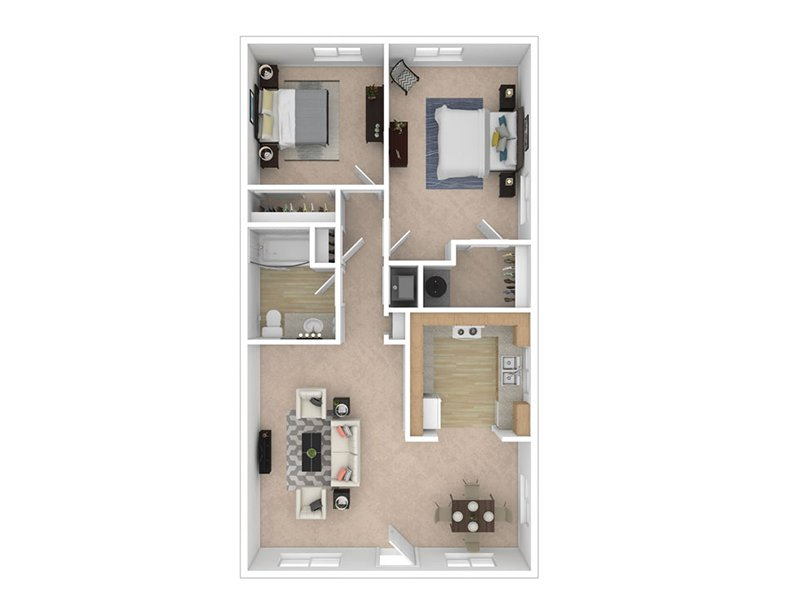 Floor Plans for Overlook at Sunset Point Apartments in Layton