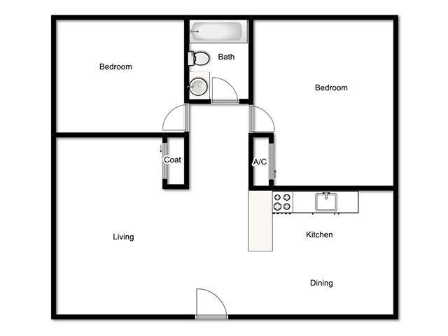 Marmalade Hill Apartments Floor Plan 2x1