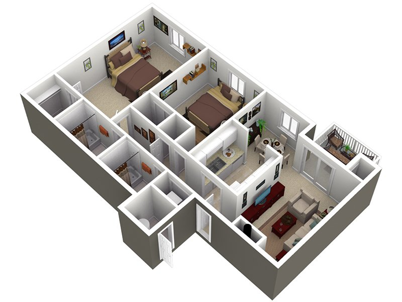 View floor plan image of the elm apartment available now