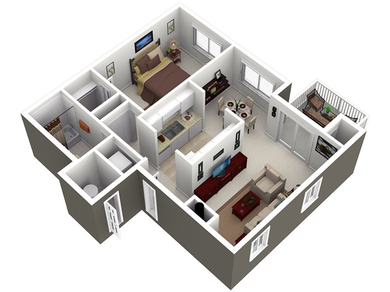 View floor plan image of the oak apartment available now