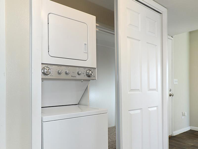 Stacked Washer & Dryer   47Seventy Settler's Point