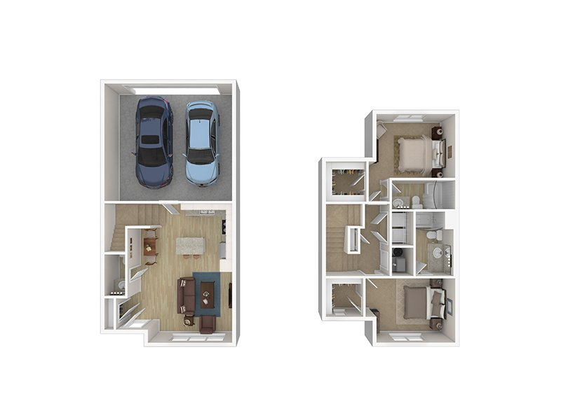 2 Bedroom Townhome apartment available today at Foxridge by Lotus in Ogden