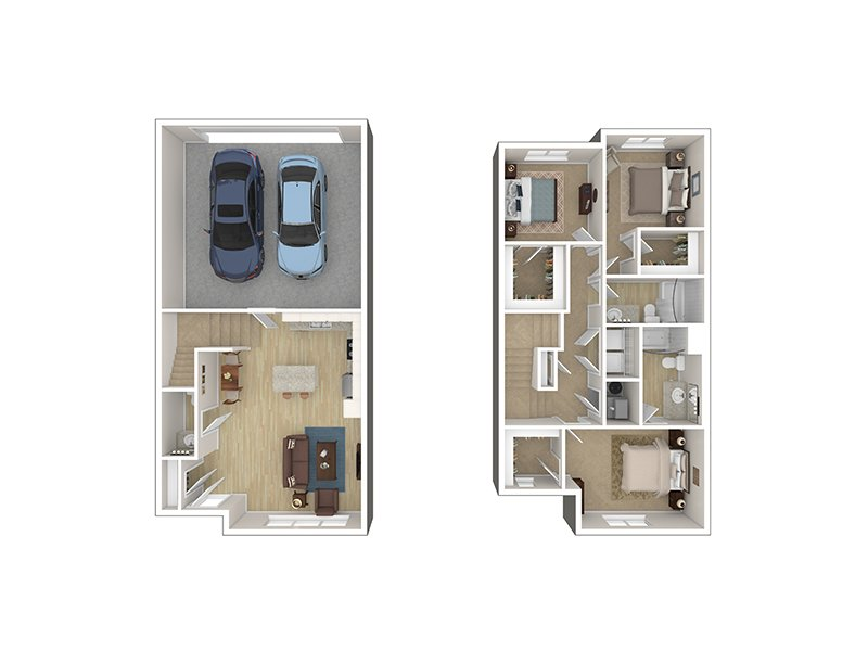 3 Bedroom Townhome apartment available today at Foxridge by Lotus in Ogden