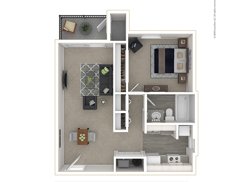 Clover Creek Apartments Apartments Floor Plan 1 Bedroom
