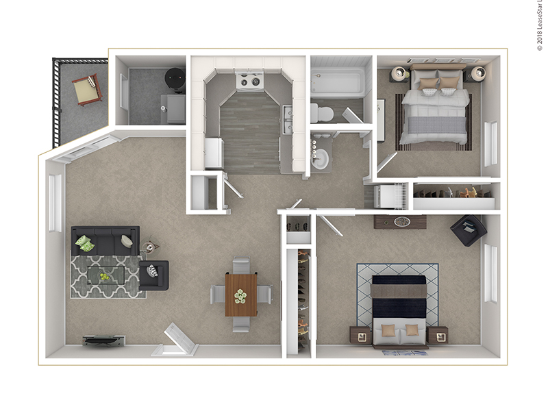 Clover Creek Apartments Apartments Floor Plan 2 Bedroom A