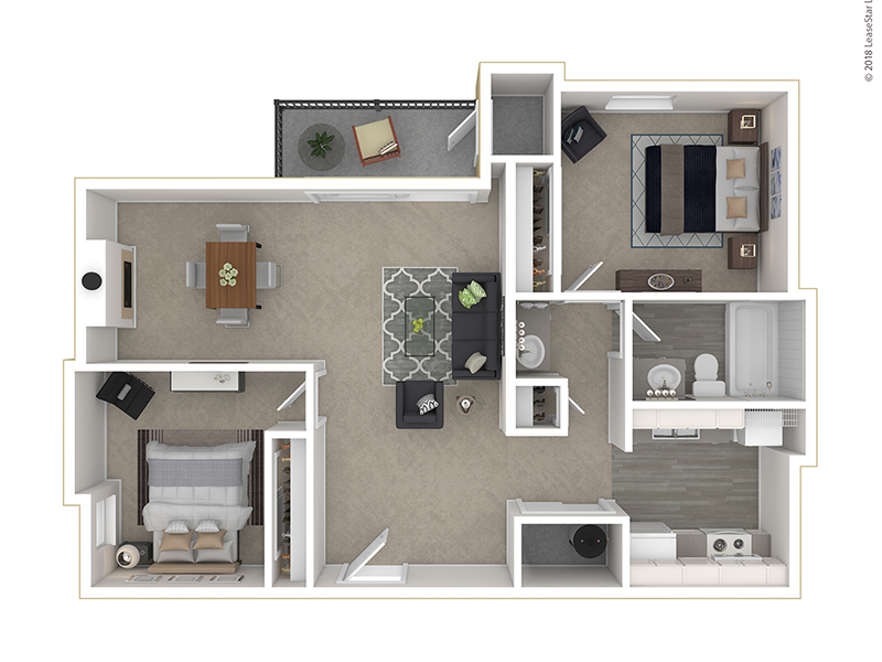 Clover Creek Apartments Apartments Floor Plan 2 Bedroom B