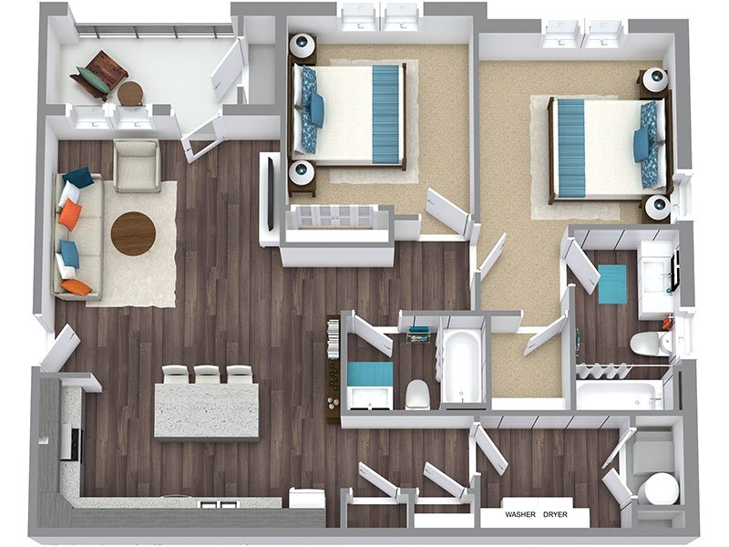 2A apartment available today at Haxton in Salt Lake City