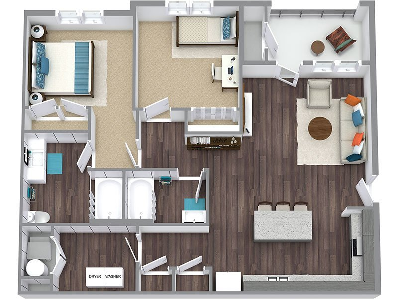 2B apartment available today at Haxton in Salt Lake City