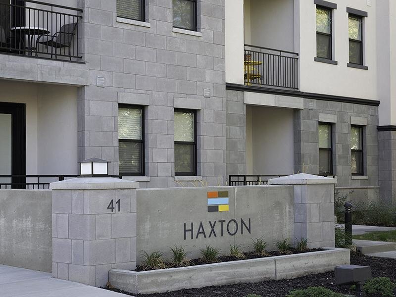 Sign | Haxton Apartments
