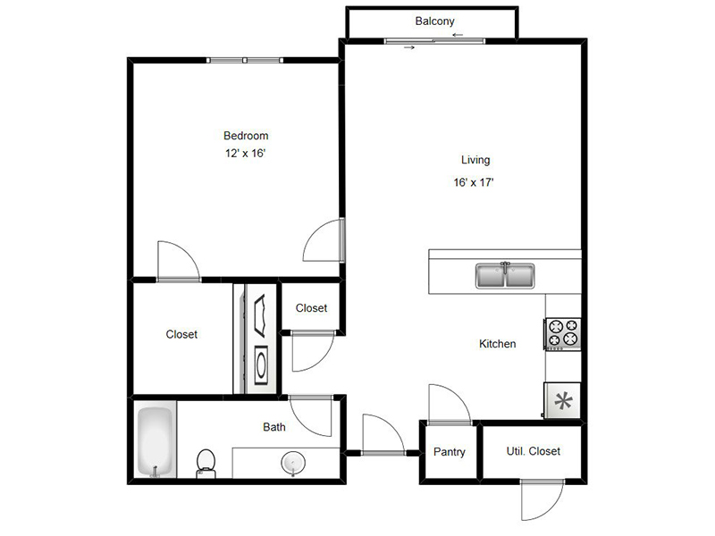 View floor plan image of McMillan apartment available now