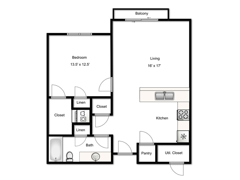 Stratton apartment available today at Center Court Senior Living in Murray