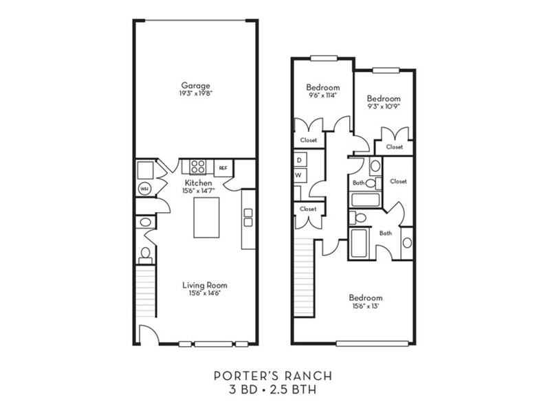 Mountain Ranch Apartments: Floor Plan Pricing For Porter Ranch Townhomes Apartments