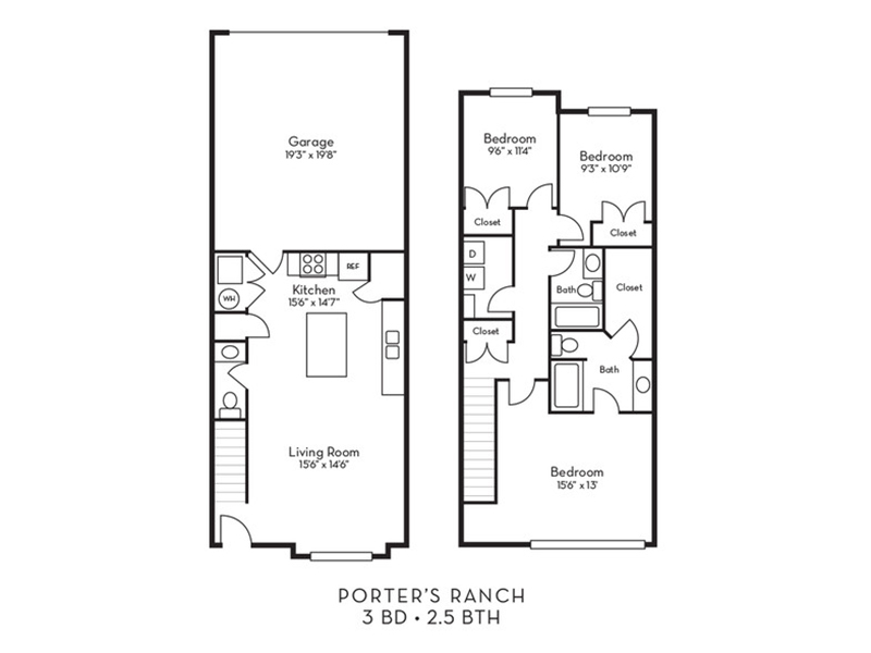 Rockrose A apartment available today at Porter Ranch Townhomes in Eagle Mountain