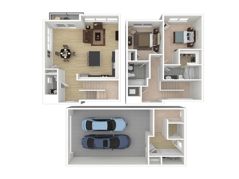 2 Bedroom 2 Bathroom A apartment available today at Whisperwood by Lotus in Ogden