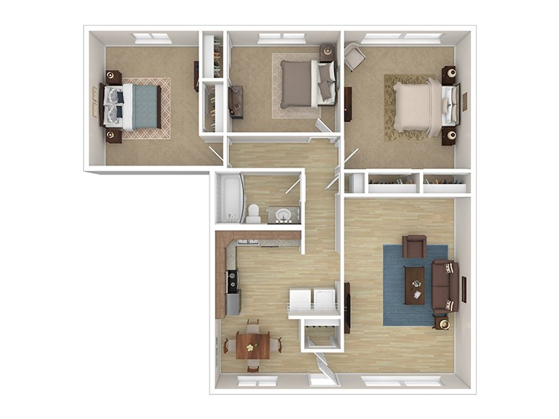 3 Bedroom 1 Bathroom apartment available today at Cascade Ridge UT in Orem