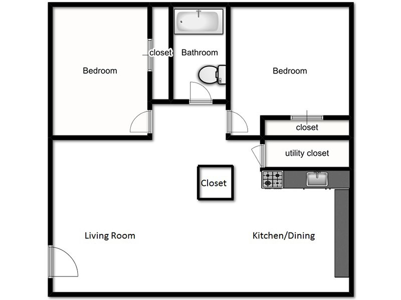 View floor plan image of A1 apartment available now