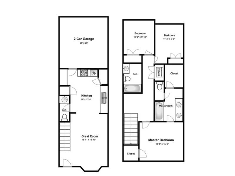 Valley View apartment available today at The Cove at Pleasant View in Pleasant View