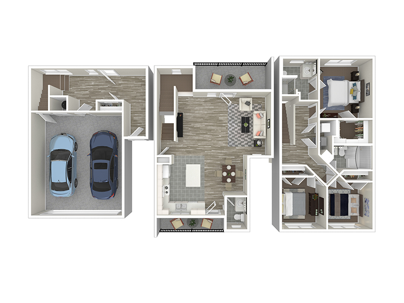 3 Bedroom Townhouse Middle apartment available today at Lincoln Station in Park City