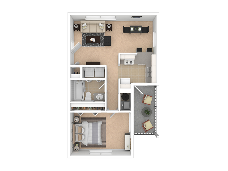 LAYOUT A apartment available today at Woods Crossing in North Salt Lake