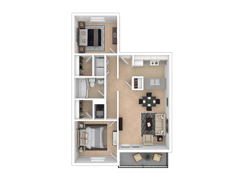 View floor plan image of LAYOUT B apartment available now