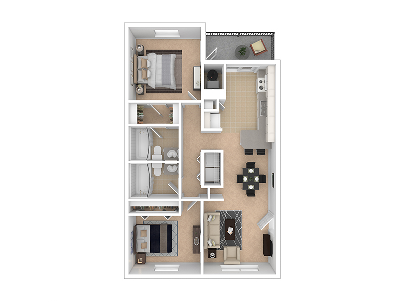 LAYOUT C apartment available today at Woods Crossing in North Salt Lake