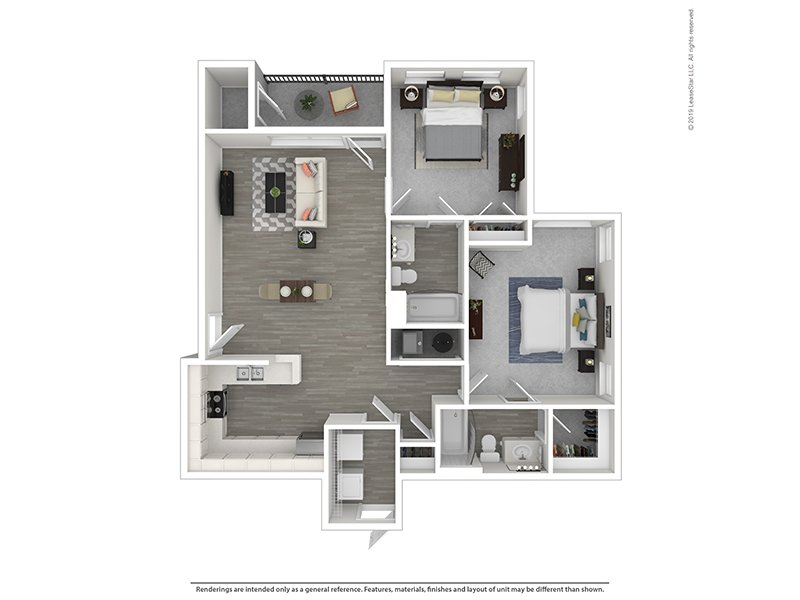 Meadows at Park Avenue Apartments Floor Plan 2x2