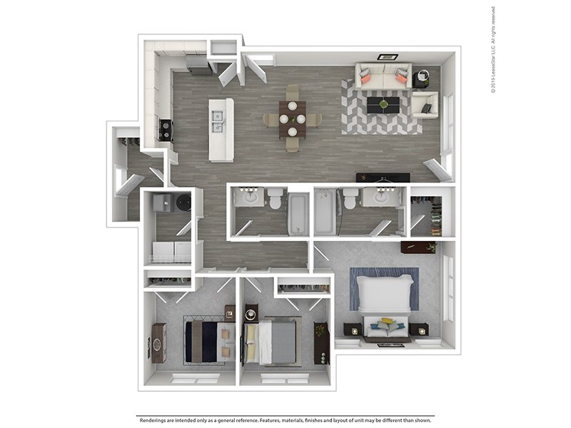 Meadows at Park Avenue Apartments Floor Plan 3x2