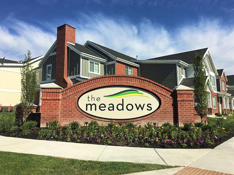 Welcome Sign | Meadows at park