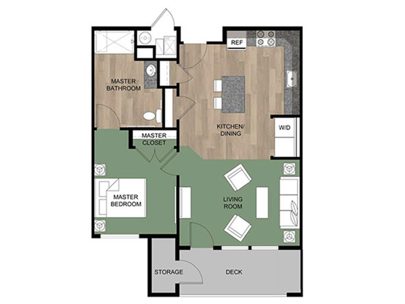 Grovecrest Villas Apartments Floor Plan Cottonwood