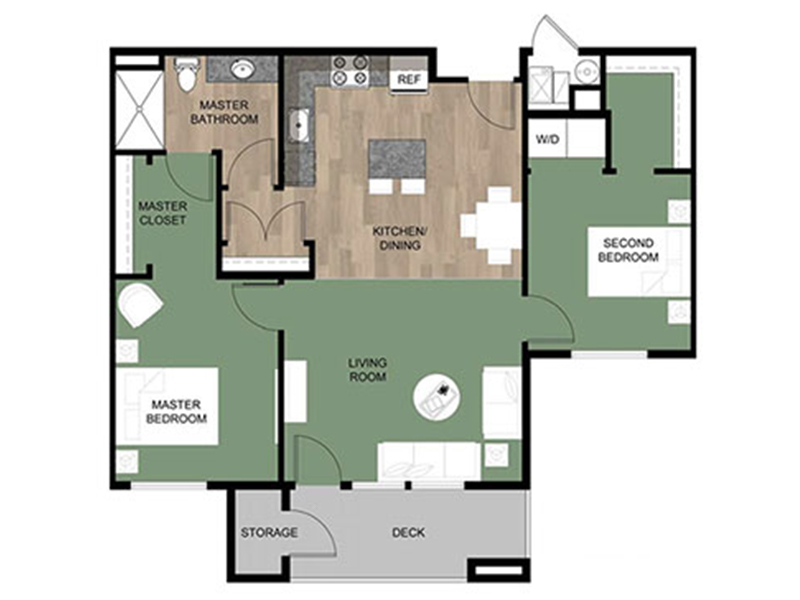 Grovecrest Villas Apartments Floor Plan Spruce
