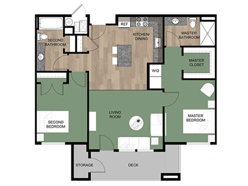 Grovecrest Villas Apartments Floor Plan Willow