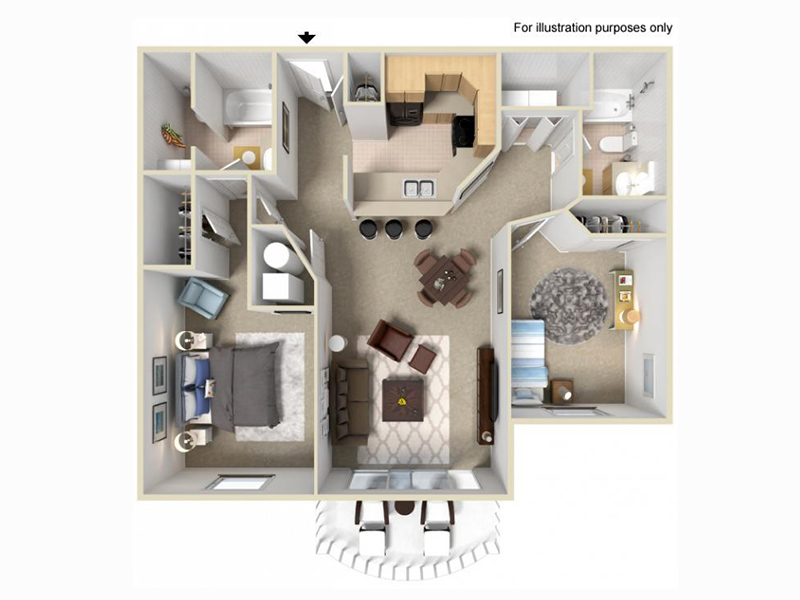 Palladio Apartments Floor Plan 2x2