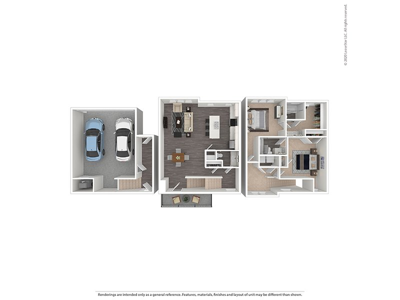View floor plan image of 2 Bedroom 2 Bathroom apartment available now