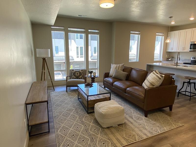 Model Living Room | Monarch Homes in Millcreek, UT