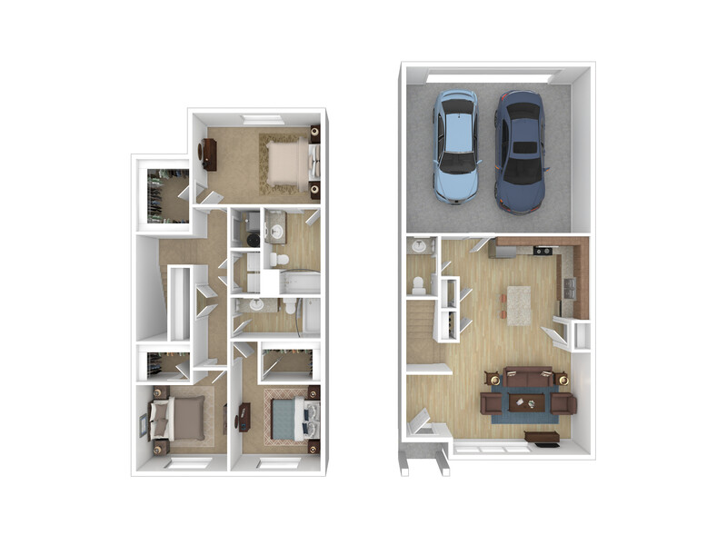 View floor plan image of 3x2.5 apartment available now