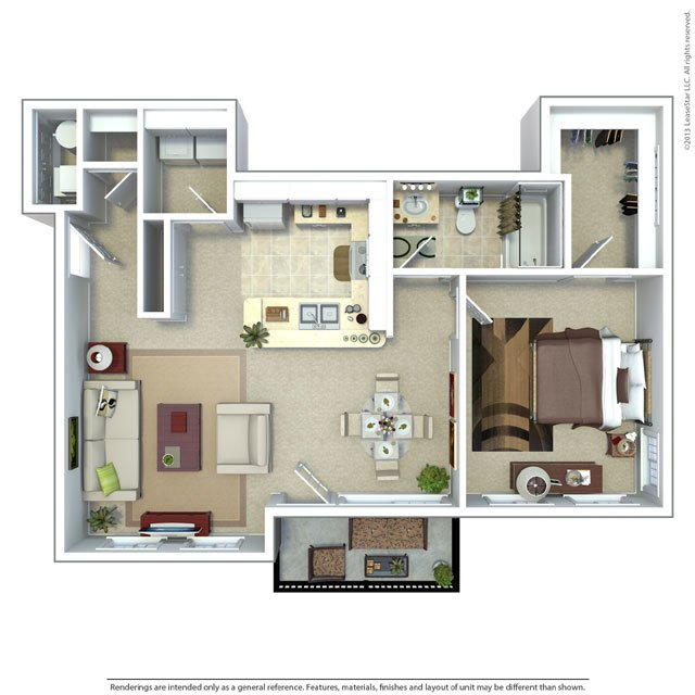Meadows at American Fork Apartments Floor Plan 1 Bedroom