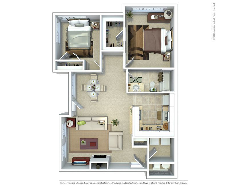 Meadows at American Fork Apartments Floor Plan 2 Bedroom 1 Bath