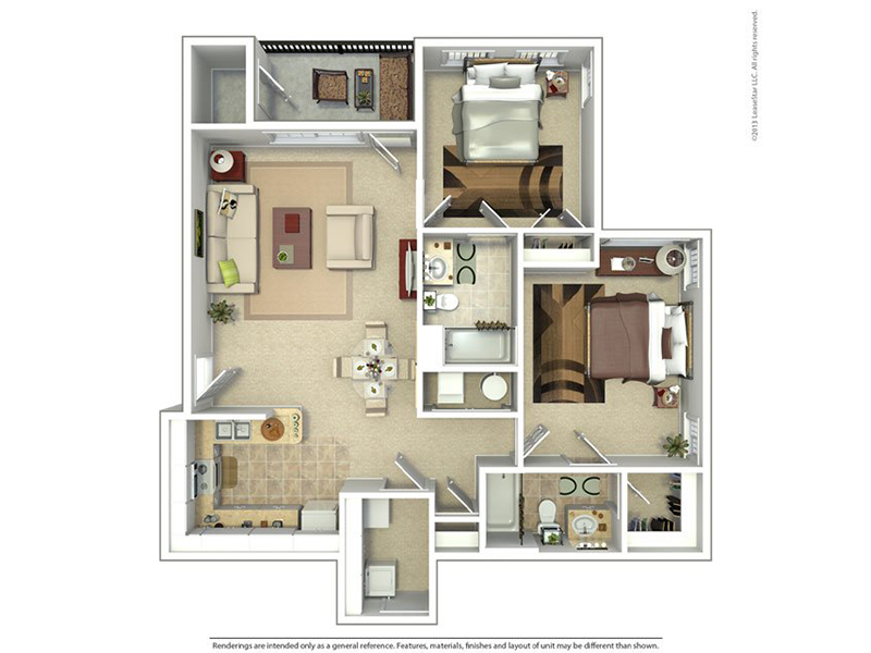 Meadows at American Fork Apartments Floor Plan 2 Bedroom 2 Bath