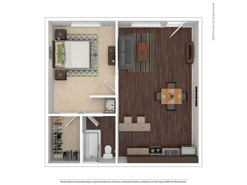 View floor plan image of 1 BEDROOM B apartment available now
