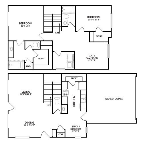 View floor plan image of B3 apartment available now