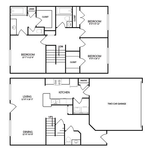 View floor plan image of C1 apartment available now