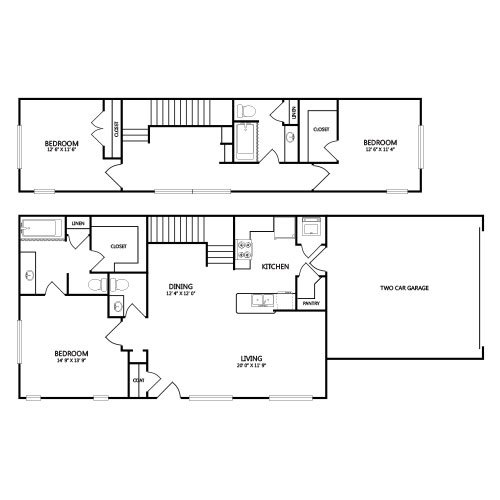 View floor plan image of C2 apartment available now
