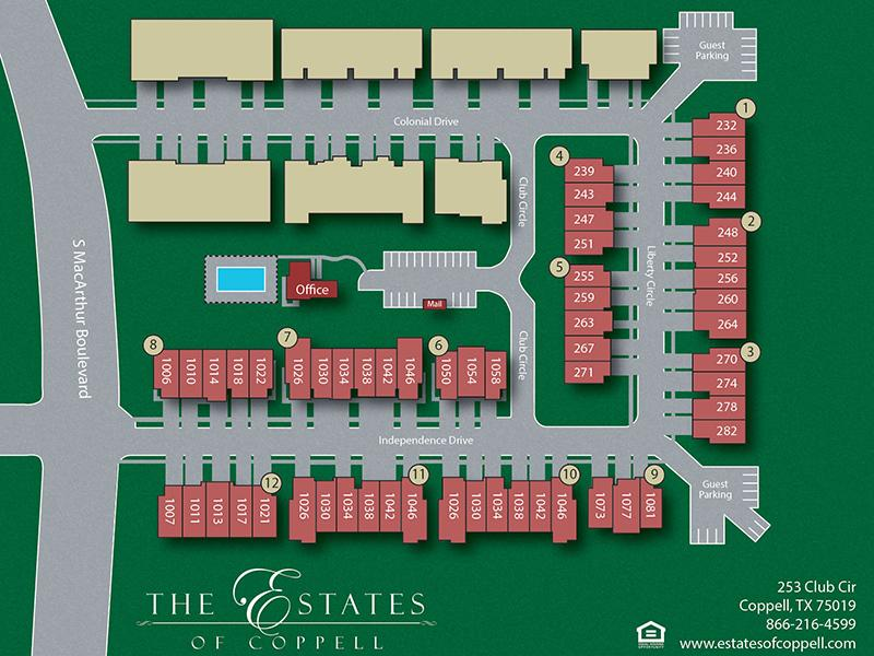 Site  Map | Estates of Coppell