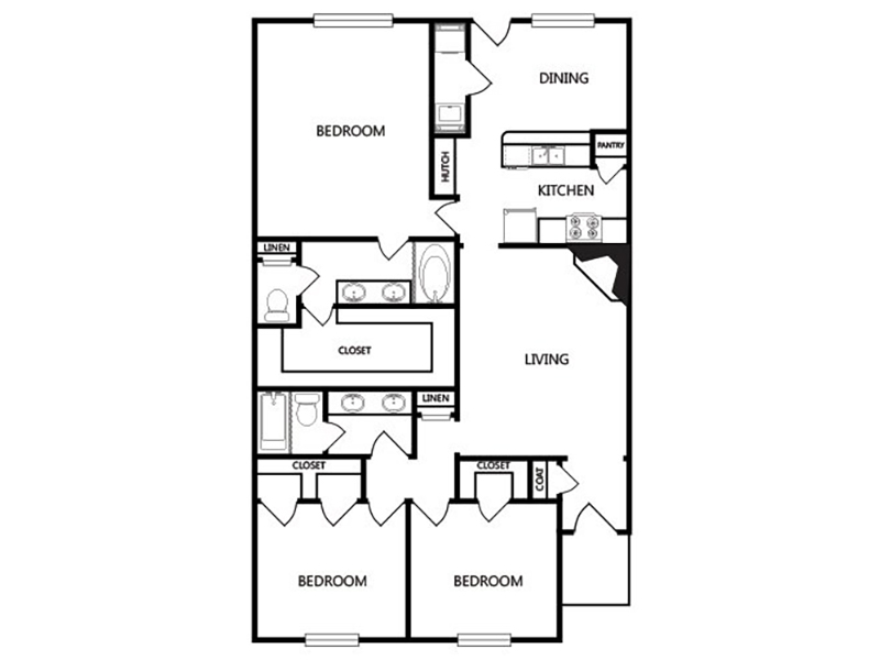 View floor plan image of B apartment available now