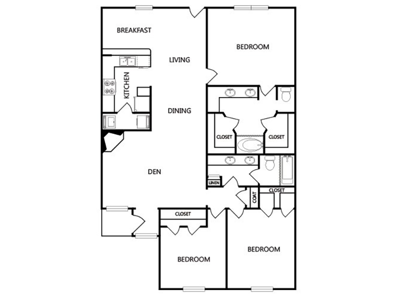 View floor plan image of E apartment available now