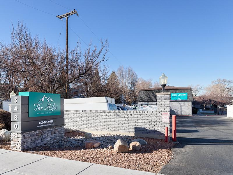 Monument Sign | The Azlee Apartments