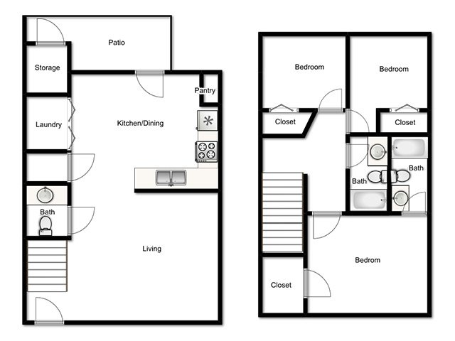 Mulberry Park Apartments Floor Plan Town home